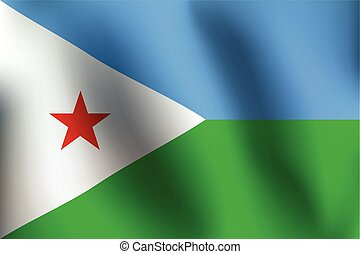 Flag of Djibouti - Vector Illustration