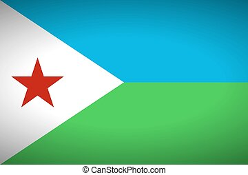 Flag of Djibouti.