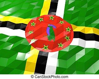 Flag of Dominica 3D Wallpaper Illustration
