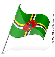 flag of Dominica vector illustration