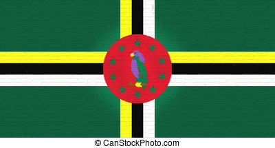 Flag of Dominica Wall