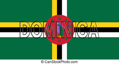 Flag of Dominica Word