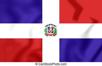 Flag of Dominican Republic. 3D Illustration.
