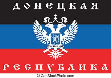 Flag of Donetsk People's Republic, 2014, Ukraine. Vector illustration