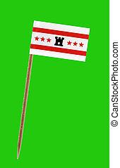 Flag of Drenthe - Tooth pick wit a small paper flag of...