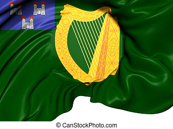 Flag of Dublin, Ireland. Close Up.