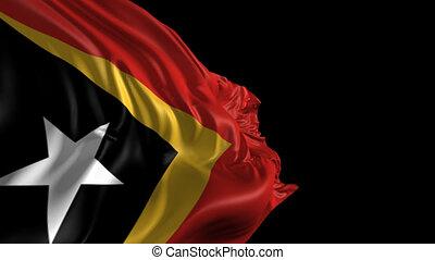 Flag of East Timor - Beautiful 3d animation of East Timor...