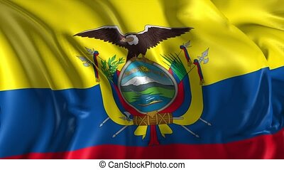 Flag of Ecuador - Beautiful 3d animation of Ecuador flag in...