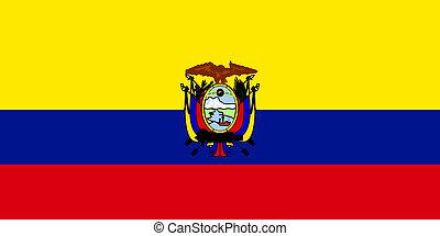 Flag of Ecuador, national country symbol illustration