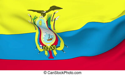 Flag of Ecuador - Flag of the Ecuador waving in the wind....
