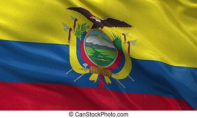 Flag of Ecuador seamless loop