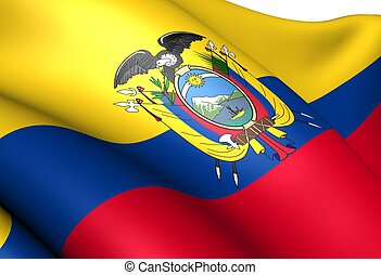 Flag of Ecuador. Close up.