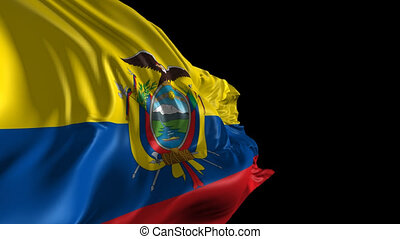 Flag of Ecuador - Beautiful 3d animation of Ecuador flag...