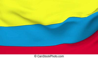 Flag of Ecuador - Flag of the Ecuador waving in the wind....