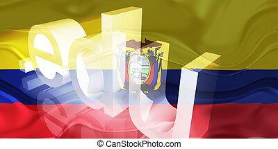 Flag of Ecuador wavy education - Flag of Ecuador, national...