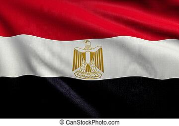 3d illustration flag of Egypt