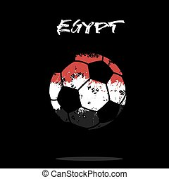 Flag of Egypt as an abstract soccer ball