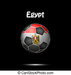 Flag of Egypt as an soccer ball