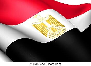 Flag of Egypt. Close up.