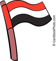 Flag of Egypt icon cartoon