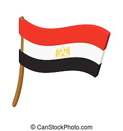 Flag of Egypt icon, cartoon style