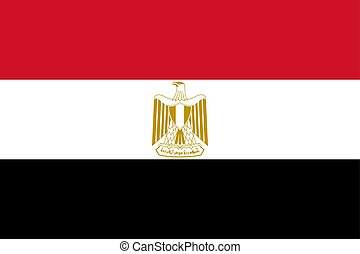 Flag of Egypt in official rate and colors, vector