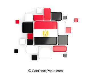 Flag of egypt, mosaic background