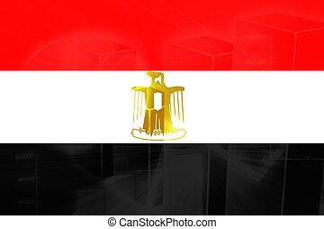 Flag of Egypt, national country symbol illustration