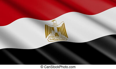 Flag of Egypt (seamless loop) - great for topics like...