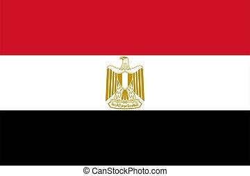 flag of Egypt. Vector illustration