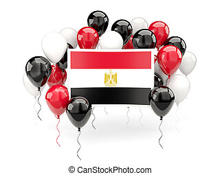 Flag of egypt with balloons