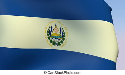 Flag of El Salvador - Flags of the world collection - El...