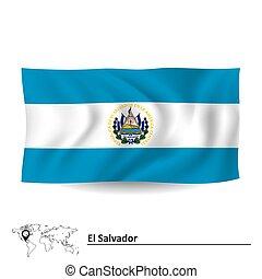 Flag of El Salvador - vector illustration