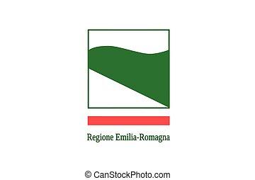 Flag of Emilia-Romagna, Italy. Vector Format