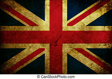 Flag of England - Grunge scratched flag of the Great Britain
