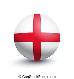 Flag of England in the form of a ball