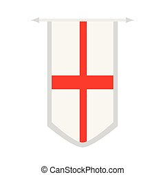 Flag of England on a banner