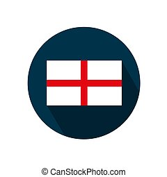 Flag of england on a white background. Vector illustration.
