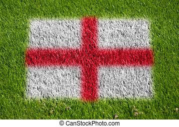 flag of england on grass