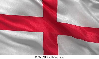 Flag of England seamless loop