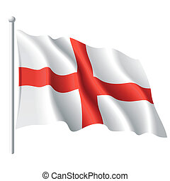 Vector illustration of flag of England