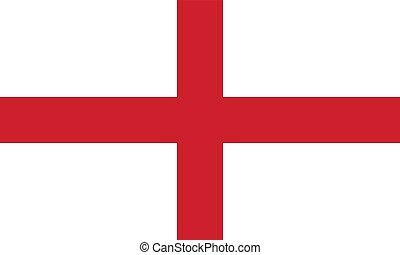 Flag of England, vector illustration