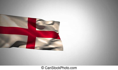 Flag of england waving in the wind