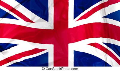Flag of England waving