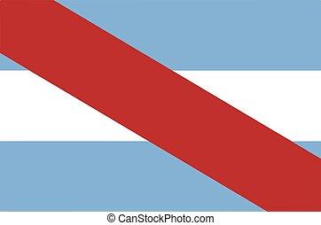 Flag of Entre Rios Province, Argentina. Vector Format