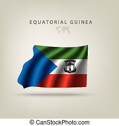 Flag of EQUATORIAL GUINEA as a country with shadow