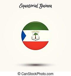Flag of Equatorial Guinea icon. Vector illustration. World...