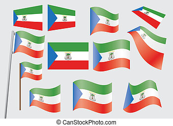 flag of Equatorial Guinea - set of flags of Equatorial...