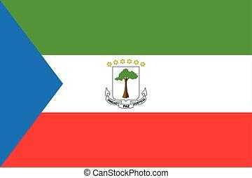 flag of Equatorial Guinea. Vector illustration. World flag