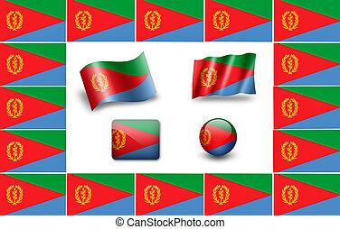 flag of Eritrea. icon set
